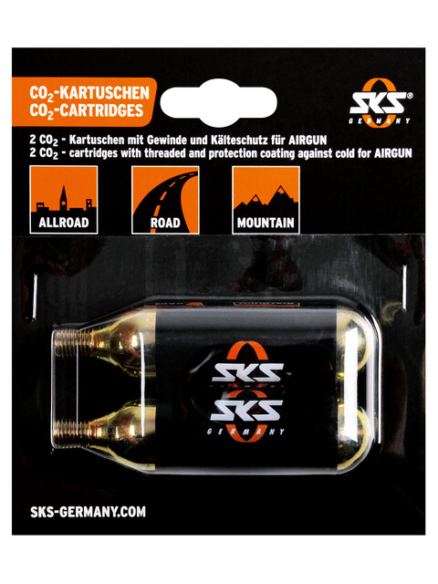 SKS CO2 cartridge set for SKS Airgun CO2, 2 pieces silver